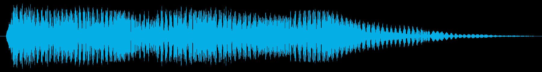重い電子シンセの振動の影響の再生済みの波形