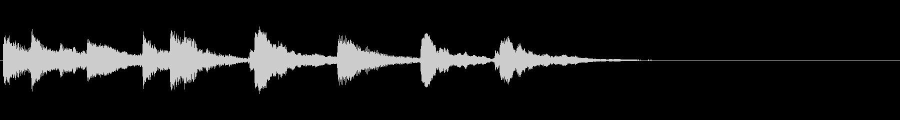 木琴2台で可愛く終止感または場面転換の未再生の波形