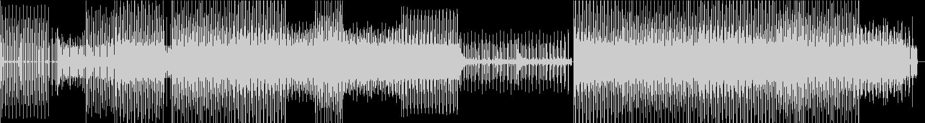 疾走感のあるクールなテクノBGMの未再生の波形