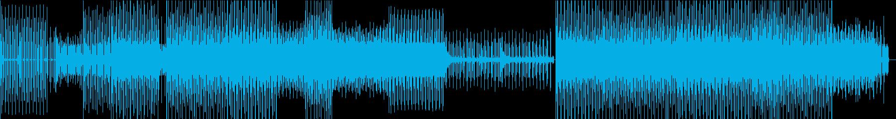 疾走感のあるクールなテクノBGMの再生済みの波形