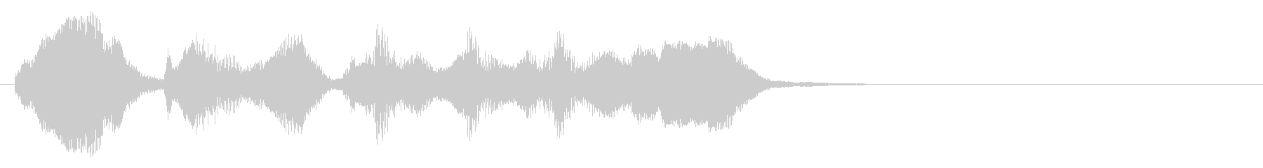 のほほんジングル010_ほのぼのの未再生の波形