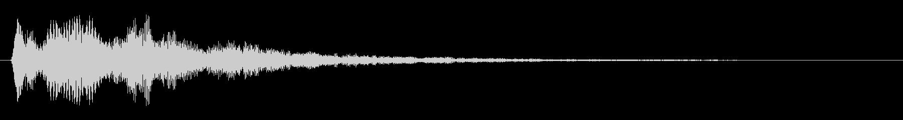 パリーンという高い音の未再生の波形