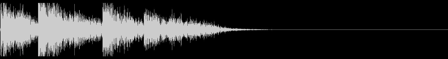 【生録音】ブリキのバケツの音 学校 4の未再生の波形