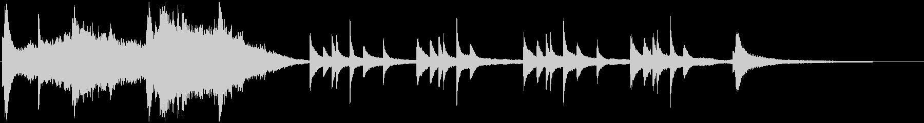 感動的なシーンの音楽(浮遊感あり)の未再生の波形