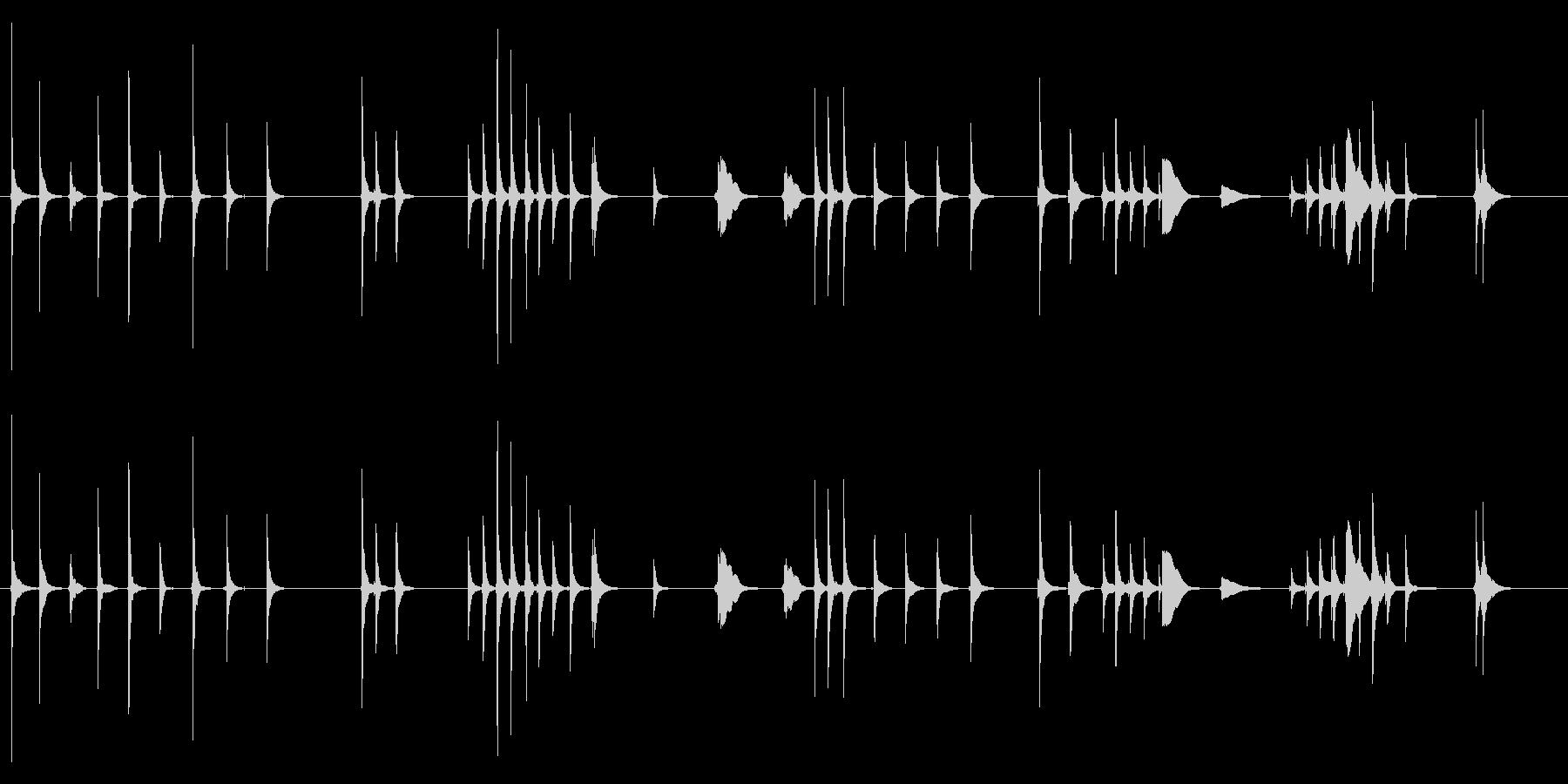 三味線131鷺娘29死ぬ合方短い方妖怪鷺の未再生の波形