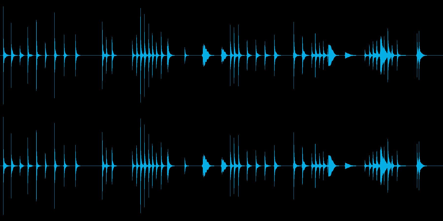 三味線131鷺娘29死ぬ合方短い方妖怪鷺の再生済みの波形