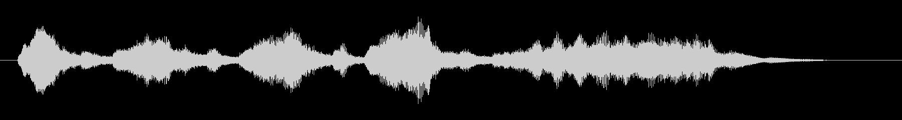弦楽四重奏によるジングルの未再生の波形