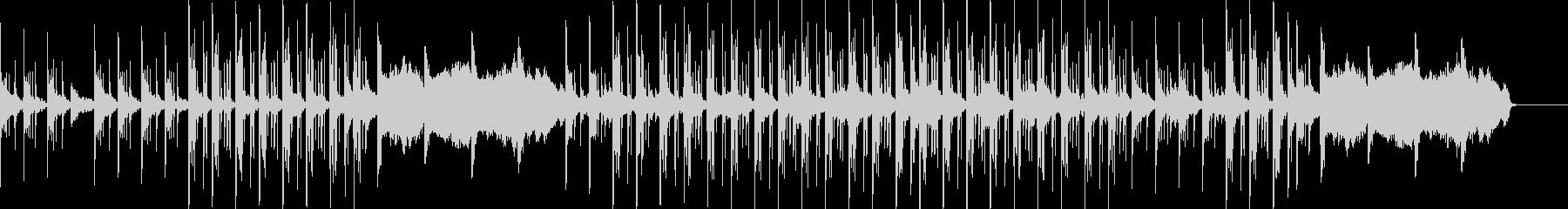 Jazzyなピアノとミニマルなリズムの未再生の波形