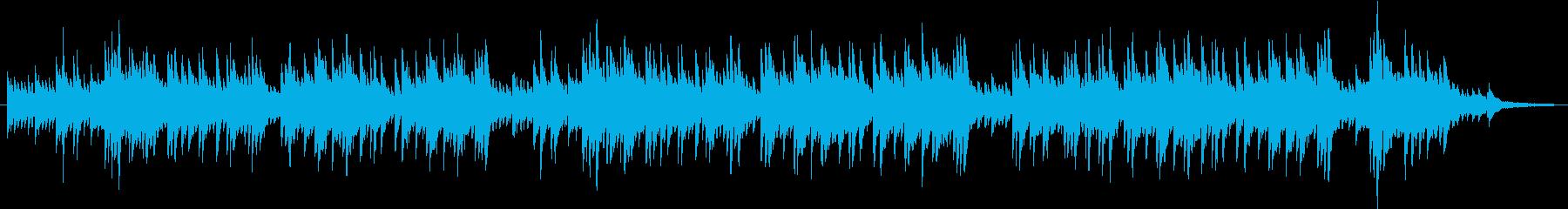 ピアノによる穏やかで切ないバラードの再生済みの波形