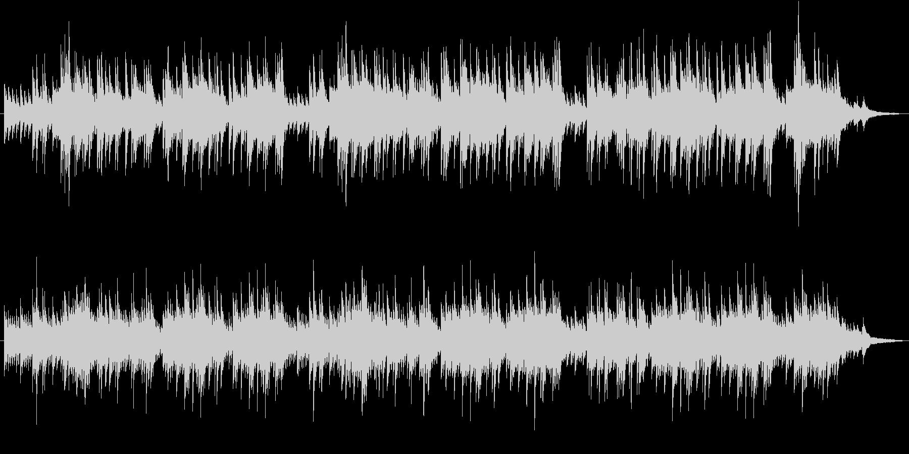 ピアノによる穏やかで切ないバラードの未再生の波形