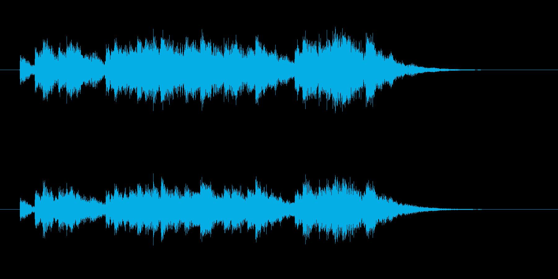 優しく透明感のあるシンセサウンドの再生済みの波形