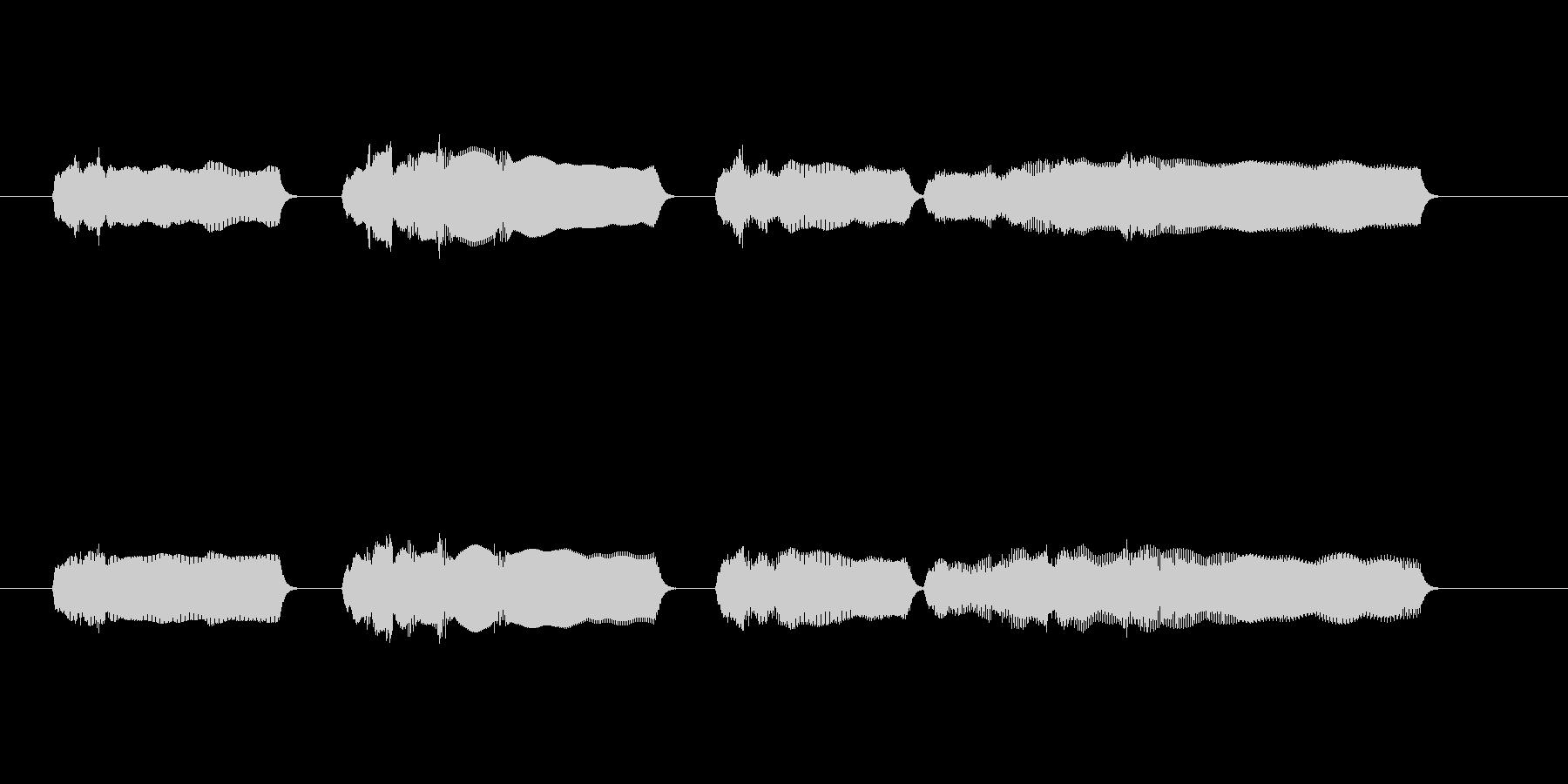 定番大変なメロディの未再生の波形