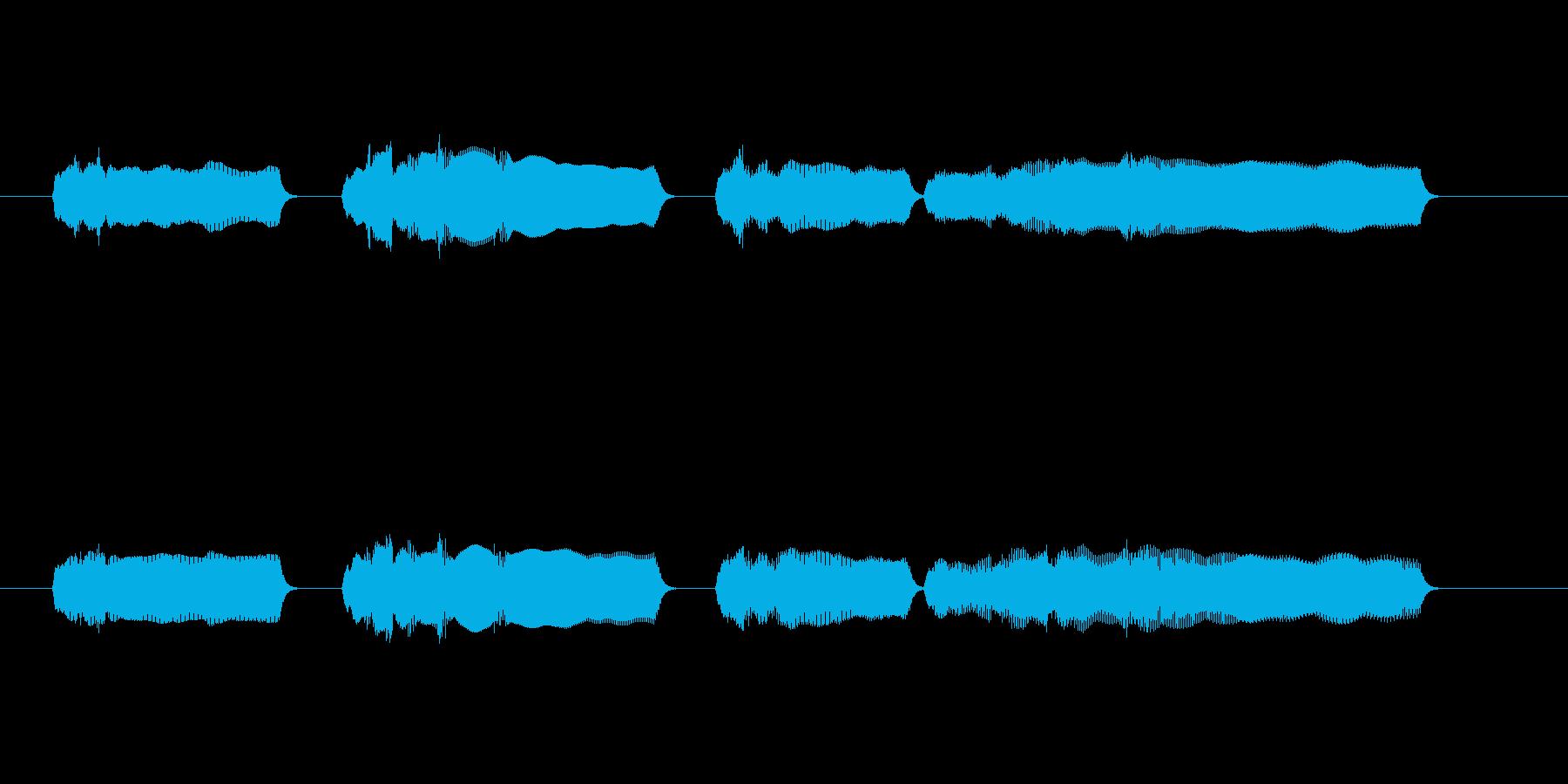 定番大変なメロディの再生済みの波形