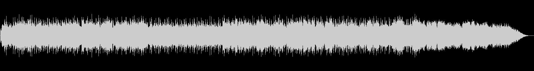 落ち着いた笛のヒーリングミュージックの未再生の波形