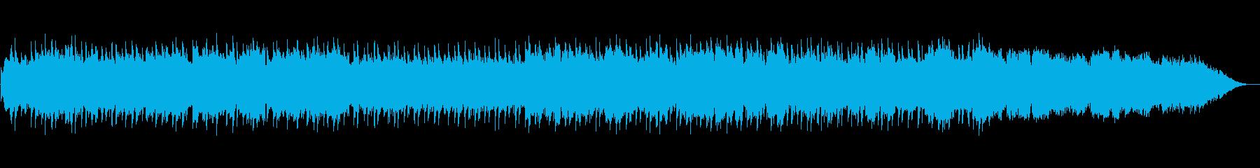 落ち着いた笛のヒーリングミュージックの再生済みの波形