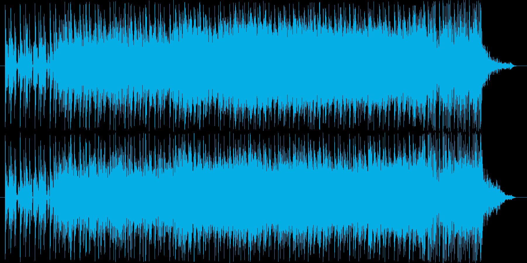 メカニック系の商品に合う激しいテクノの再生済みの波形