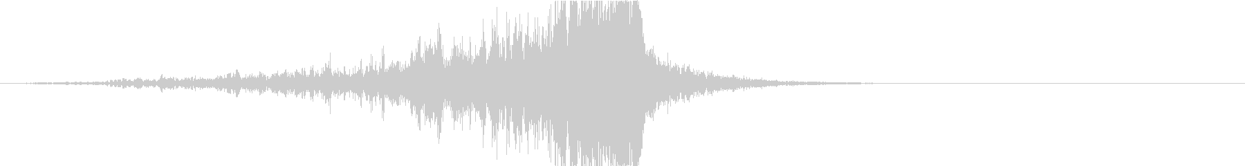 ドラマティックなリバース音34-01の未再生の波形