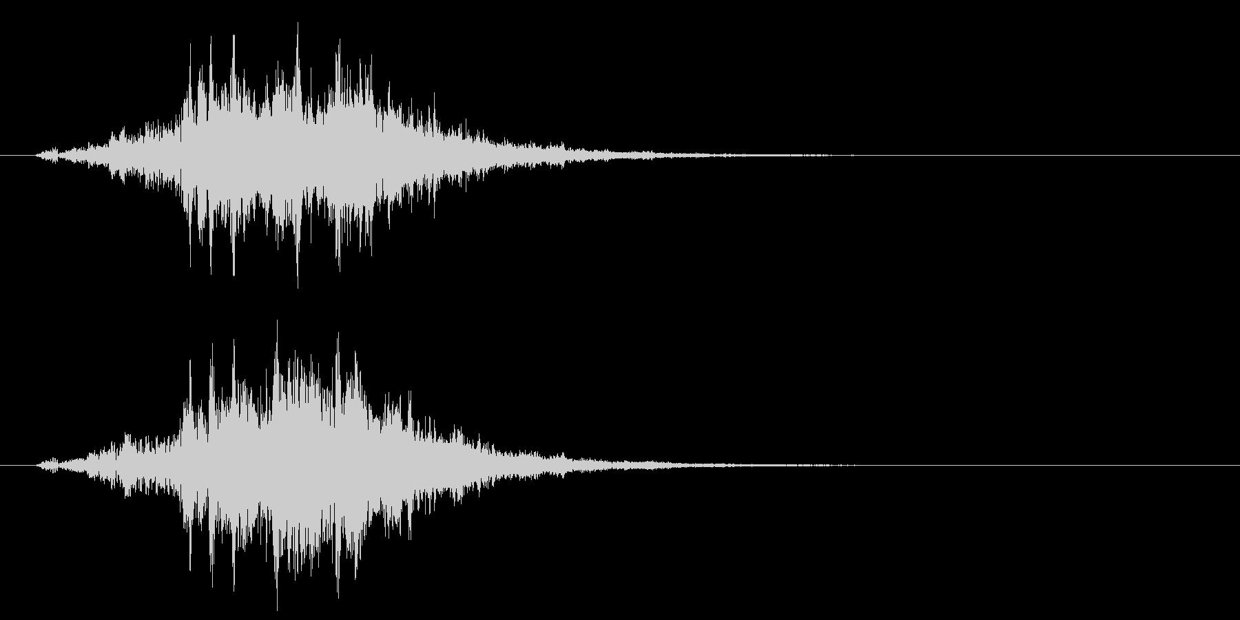 古いパソコンの起動音風ジングル4の未再生の波形