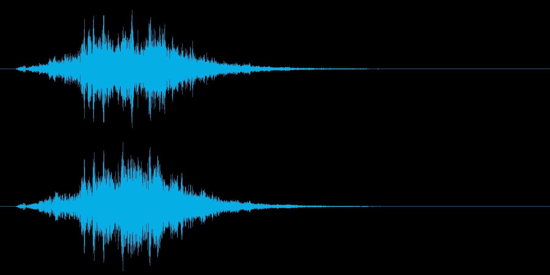 古いパソコンの起動音風ジングル4の再生済みの波形