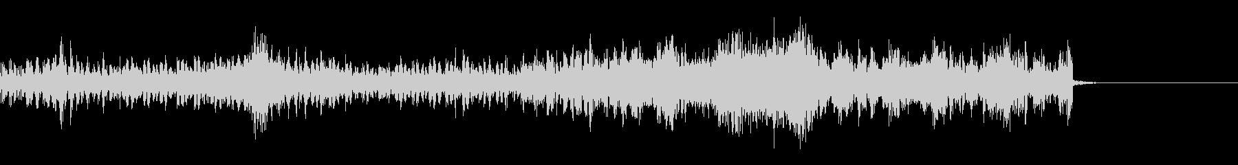 機械的リズム効果音の未再生の波形