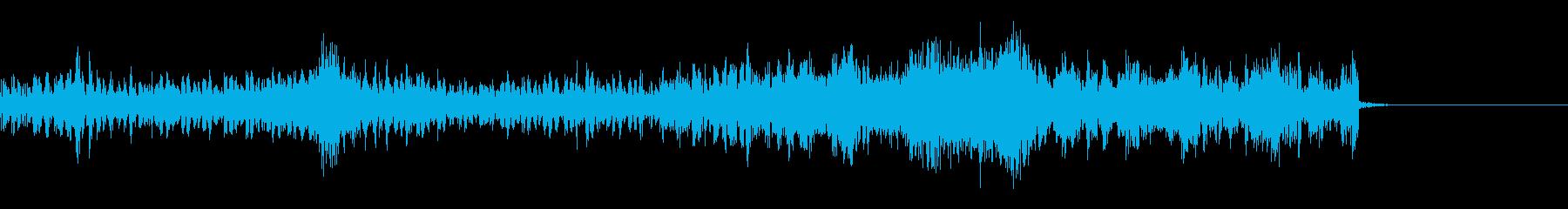 機械的リズム効果音の再生済みの波形