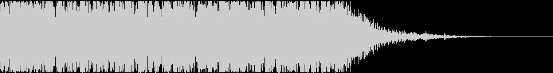重めの発砲音(連射)とマガジンの音の未再生の波形
