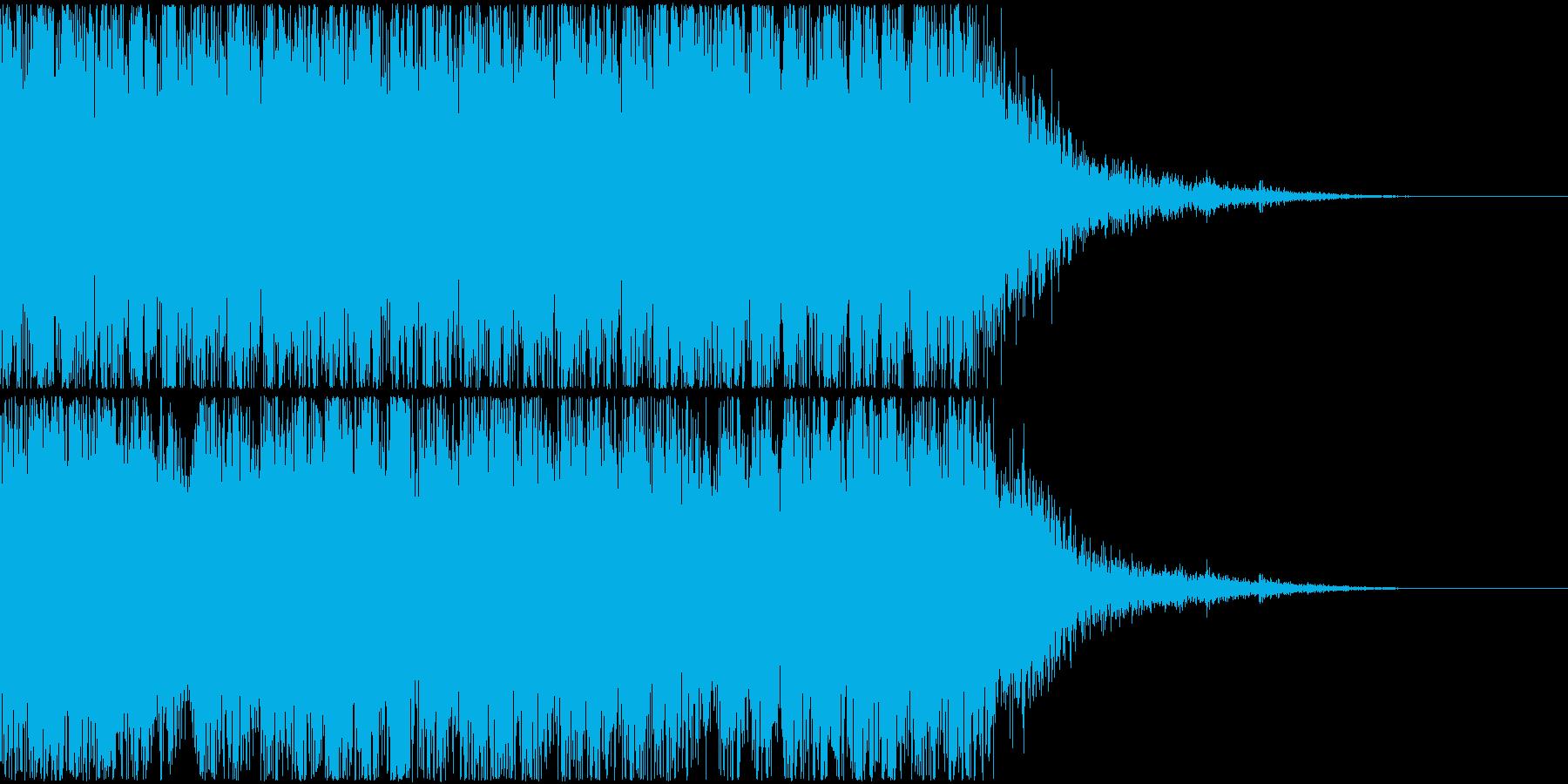 重めの発砲音(連射)とマガジンの音の再生済みの波形