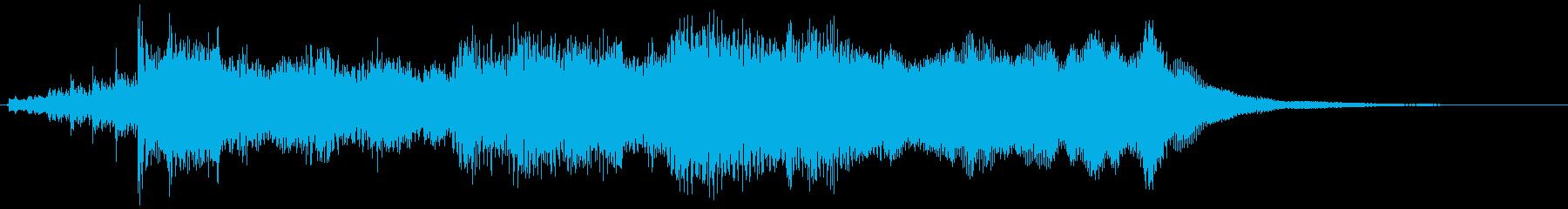 短め・壮大なオーケストラのファンファーレの再生済みの波形