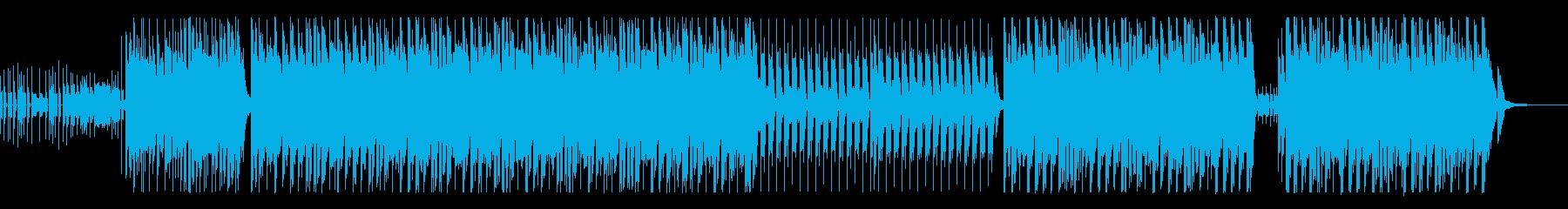 軽快なピアノが印象的なEDMの再生済みの波形