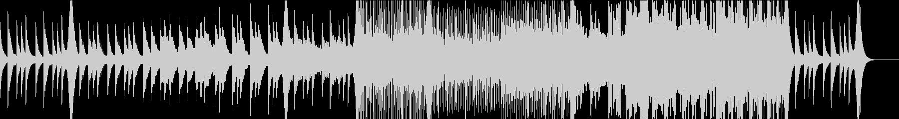 ピアノとストリングスの幻想的な雰囲気の未再生の波形