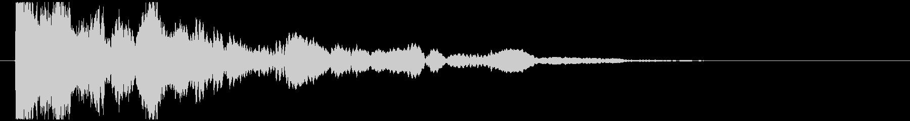 神秘的で透明感のあるインパクト音10の未再生の波形