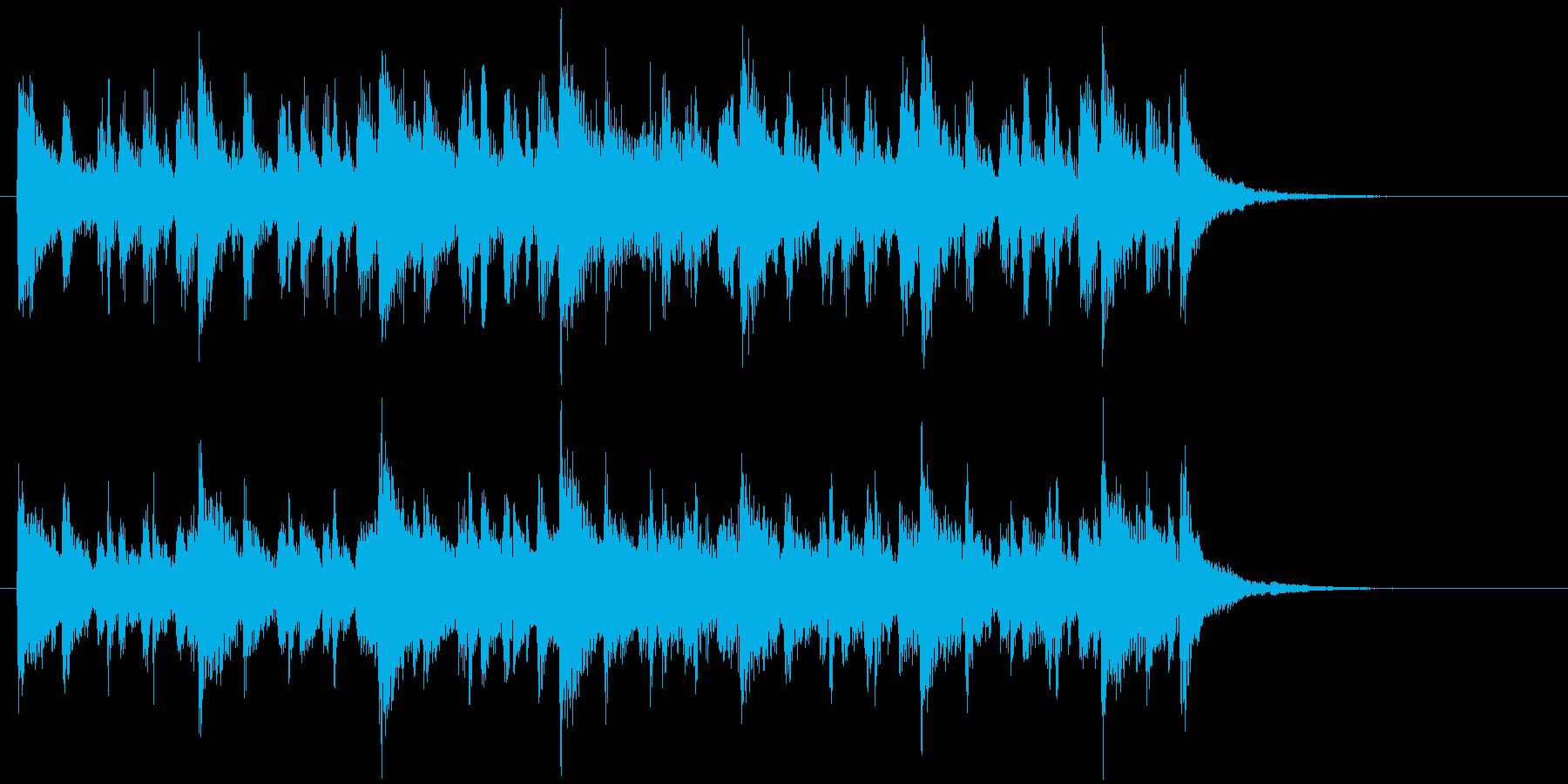 スピード感あるコンパクトなポップスの再生済みの波形