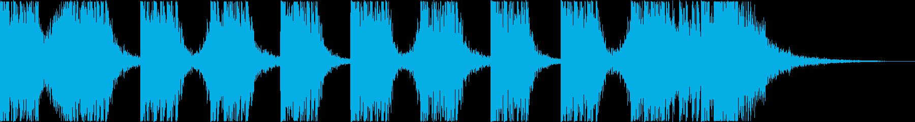 打楽器+シンセ BPM=110の再生済みの波形