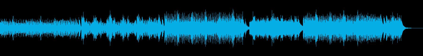 跳ねるような楽しいピアノ曲の再生済みの波形