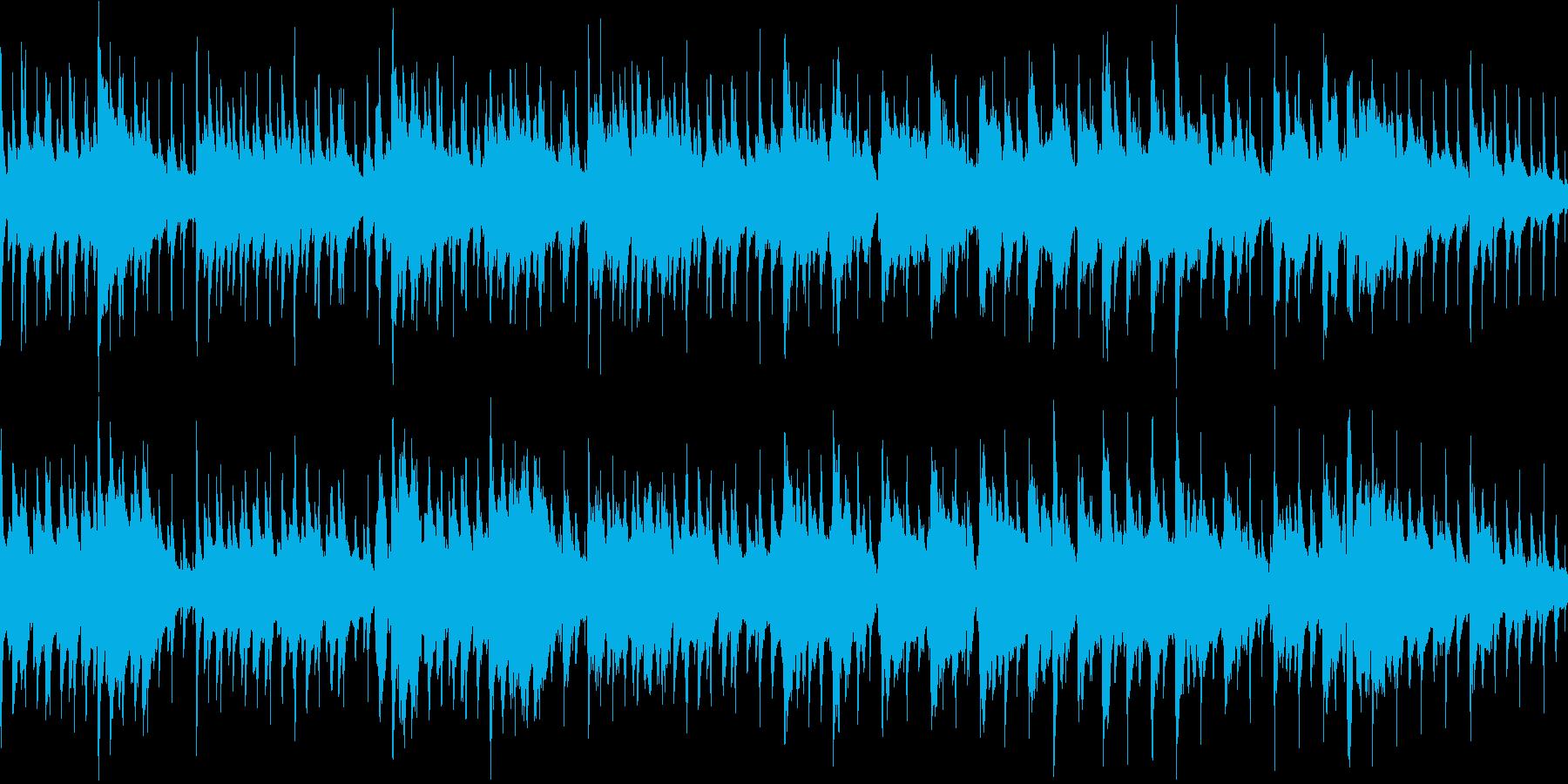 軽快でかわいい雰囲気のジャジーな曲の再生済みの波形