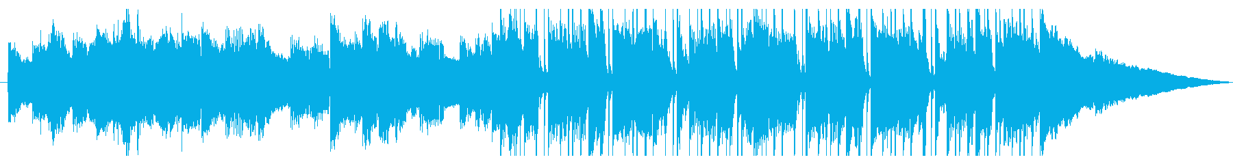 印象的なエレピのおしゃれなショートBGMの再生済みの波形