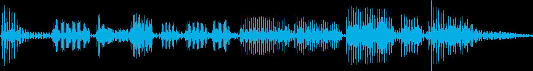 エレキベースのフレーズ2の再生済みの波形