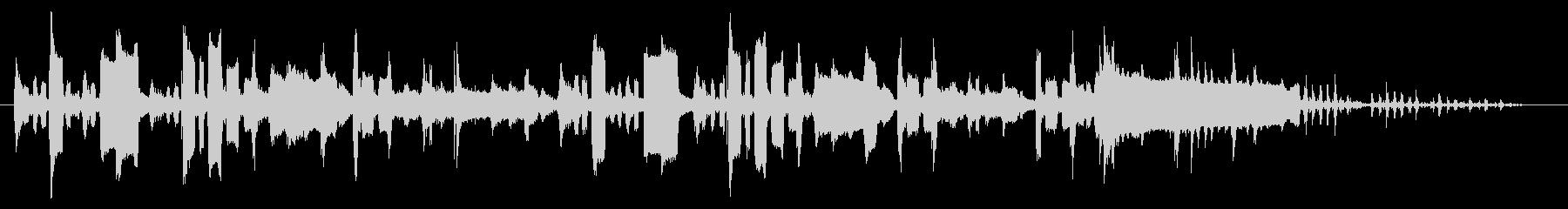 ほのぼのとした下手なオカリナの未再生の波形