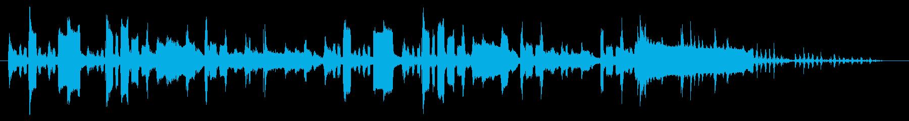 ほのぼのとした下手なオカリナの再生済みの波形
