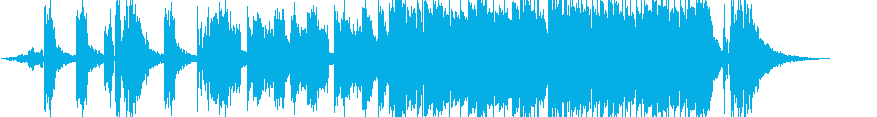 Kpop風な壮大バウンスビートの再生済みの波形
