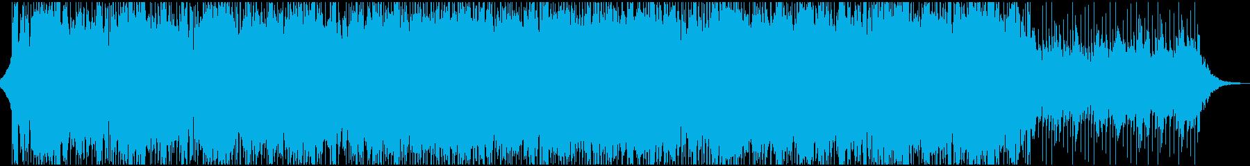切ないコーポレート系BGMの再生済みの波形