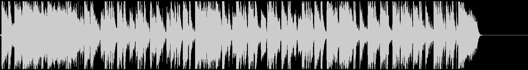 軽快なリズムのポップス曲の未再生の波形