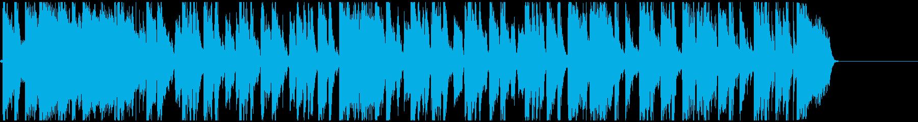 軽快なリズムのポップス曲の再生済みの波形