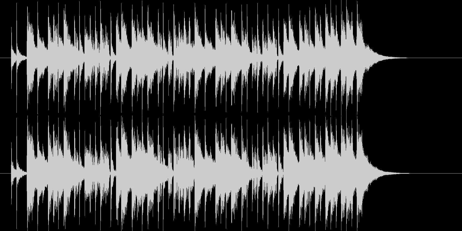 鉄琴とドラムが軽快なシンセポップの未再生の波形