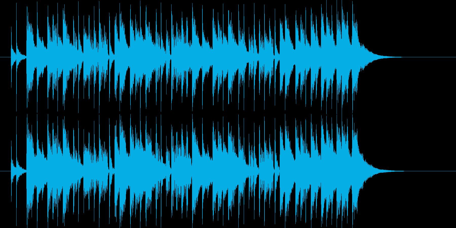 鉄琴とドラムが軽快なシンセポップの再生済みの波形