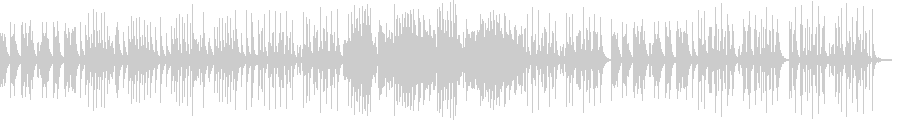 切なさとほのぼのの中間なピアノバラードの未再生の波形