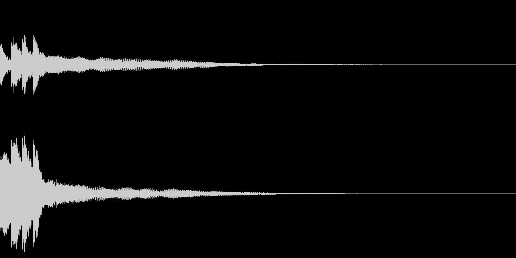 アナウンス開始音2の未再生の波形