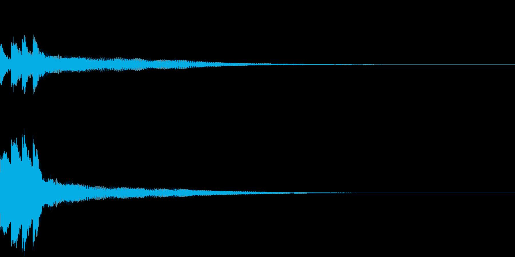 アナウンス開始音2の再生済みの波形