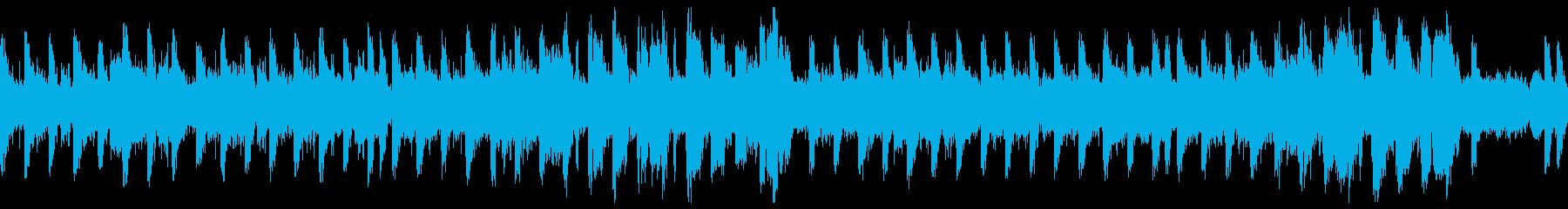 ニュース読み、動画用途のシンプル楽曲の再生済みの波形