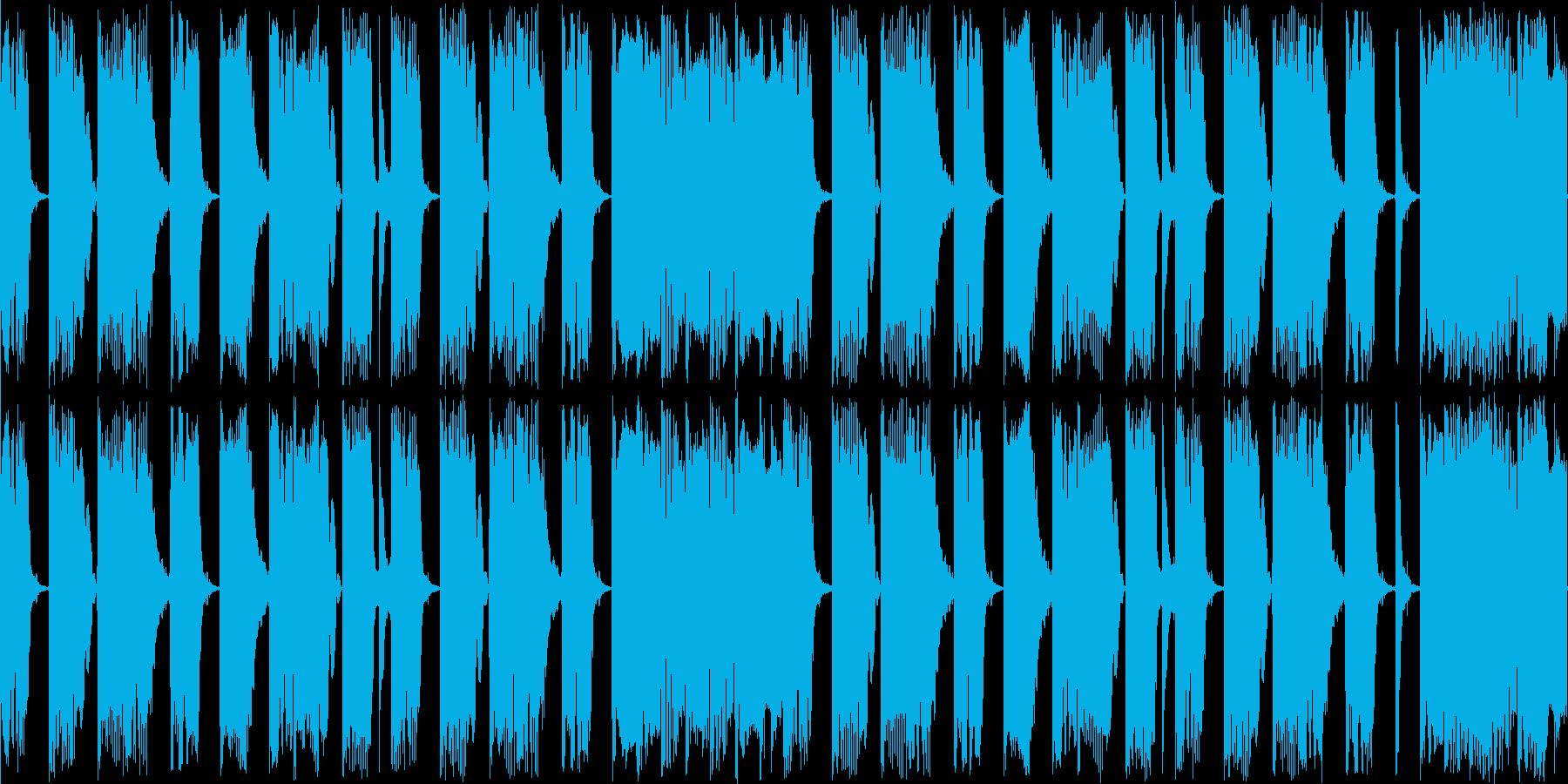 ゲームのBGM用に作曲したコミカルなル…の再生済みの波形